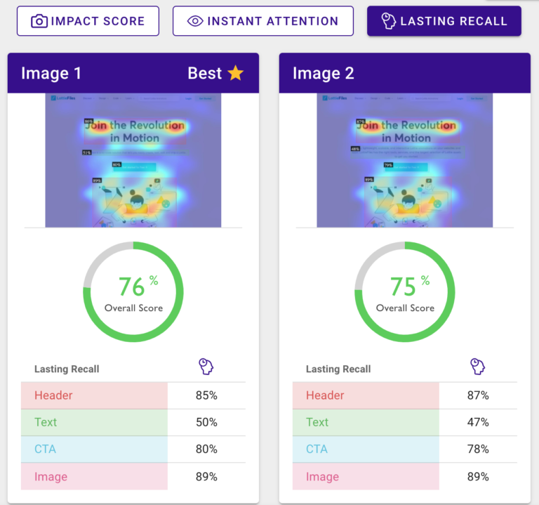 Hippoc Overall Lasting Recall Score LottieFiles Landing pages